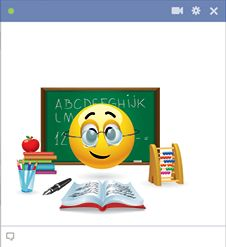 Teacher emoticon for Facebook chat