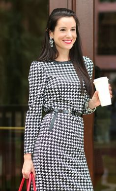 Houndstooth perfection.