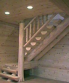Scribe Log Stairs