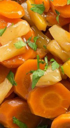 Slow Cooker Pineapple Glazed Carrots
