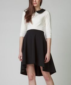 Loving this Black & Cream Bonita Dress on #zulily! #zulilyfinds