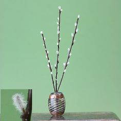 My top find of the week - Miniature Pussy Willow Branches - not too hard to make and just in time for Spring in the dollhouse!   Source: About.com