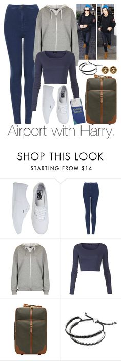 """""""Airport with Harry."""" by mixerdirectioner4eva ❤ liked on Polyvore featuring Vans, Topshop, Mulberry and Links of London"""