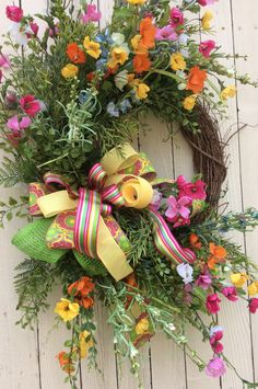 Whimsical Spring WreathSpring Wreath Spring Door Wreath by Keleas