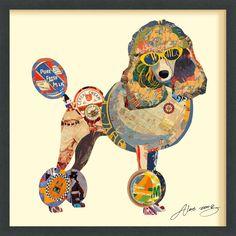 Poodle Dimensional Art Collage #Poodle