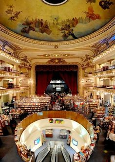 El Ateneo bookstore, Buenos Aires I'll have to go see this when I'm in Buenos Aries.