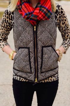 Jcrew herringbone vest merino wool sweater