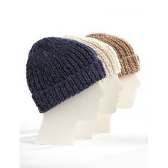 """Add a giant fur pom or do the cuff in a contrasting color, so many possibilities. """"Knit Family Toques"""" Free pattern from @yarnspirations"""