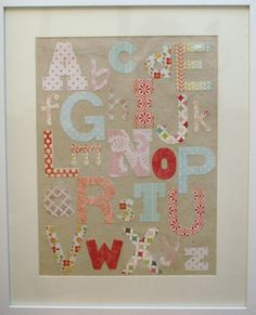 Paper crafts!  Baby bedroom gifts for baby shower -  Alphabet (girls) - Victoria Talbot Studios