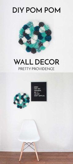 DIY Pom Pom Wall Decor! SUPER FUN right?!? I love this! MichaelsMakers Pretty Providence