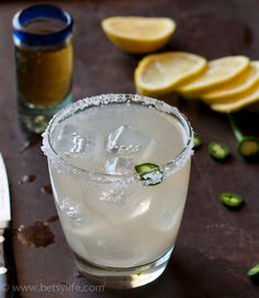 Spicy Tequila & Lemonade Cocktail.