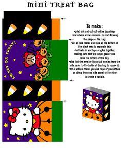 FREE printable hello kitty halloween treat bag // La Casita de Caro: Hello Kitty Halloween!!