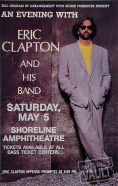 Eric Clapton, Shoreline Amphitheatre (Mountain View, CA) May 5, 1990