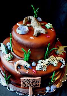 16 best Gecko cake images on Pinterest   Lizard cake, Bakken and ...
