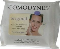 COMODYNES Make-Up Remover Towelettes for Normal Skin Original Formula (Model: COMMORG20) by Comodynes. $7.95. Eliminates impurities and make-up residue. Hydrates and moisturizes skin leaving it soft and smooth. Resealable dispenser pack.. Save 60% Off!