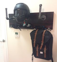 Motorcycle Helmet Holder Deluxe by ChasingCreations on Etsy