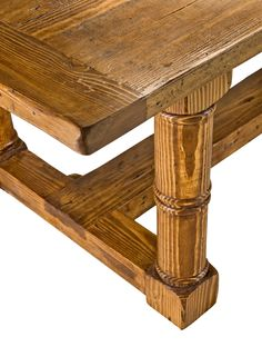 Reclaimed Wood Stretcher Dining Table