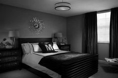 Black Grey Purple Bedroom - Ideas for Basement Bedrooms Check more at http://maliceauxmerveilles.com/black-grey-purple-bedroom/