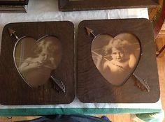 Disney Collectibles, Valentine Heart Pictures, Art Antique, Vintage Love, Shabby Chic Decor, Cherub, Cupid, Framed Art, Picture Frames