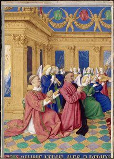 Jean Fouquet (1420 - 15è siècle apr. J.-C.) Le Livre d'Heures d'Etienne Chevalier. Photo (C) RMN-Grand Palais (domaine de Chantilly) / René-Gabriel Ojéda