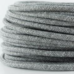 Textilkabel für Lampe, Textilummanteltes Rundkabel, zweiadrig 2x0,75mm², grau-melange: Amazon.de: Beleuchtung
