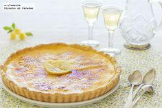 Tarta caramelizada de limón. Receta con fotografías del paso a paso y sugerencias de presentación. Trucos y consejos de elaboración. Recetas de...
