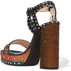 Lanvin Embellished glittered leather platform sandals ($836) ❤ liked on Polyvore featuring shoes, sandals, high heel shoes, glitter platform sandals, high heel platform sandals, high heel sandals and high heeled footwear