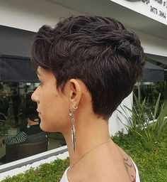 Women's Short Textured Tapered Cut You are in the right place about curly hair cuts pixie Here we of Short Layered Haircuts, Best Short Haircuts, Short Hairstyles For Women, Layered Hairstyles, Brown Hairstyles, Medium Haircuts, Hairstyles Haircuts, Cool Hairstyles, Summer Hairstyles