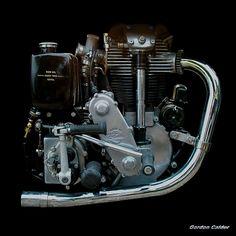 NO 32: VINTAGE VELOCETTE KSS 350cc OHC MOTORCYCLE ENGINE   by Gordon Calder