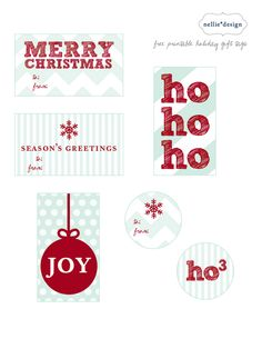 Enjoy some cute and FREE printable Holiday gift tags!