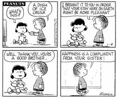 #thepeanuts #pnts #peanuts #schulz #linus #lucy #icecream #brother #sister