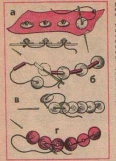 Aww, some very old instructions on sewing with sequins.