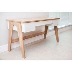 TrendLine Hanover/ Off-white 3-drawer Home Office Desk - Free Shipping Today - Overstock.com - 18079194 - Mobile