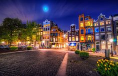 Another shot from my recent visit to the lovely city of Amsterdam Rainbow House, Amsterdam City, Amsterdam Holland, Glass Repair, Pictures Images, City Lights, Landscape Architecture, Cool Places To Visit, Old Houses