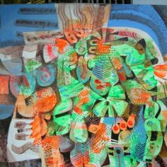 Paco Gorospe : Blue, green and orange abstract Philippine Art, Ap Art, Artists Like, Pinoy, Green And Orange, Filipino, Philippines, Artworks, Contemporary Art