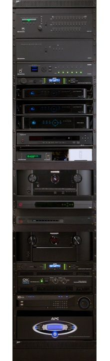 Equipment rack | More Than Meets the Eye | CEDIA Home Theater Design Ideas