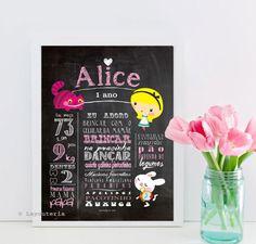 Chalkboard Alice | Quadro Lousa