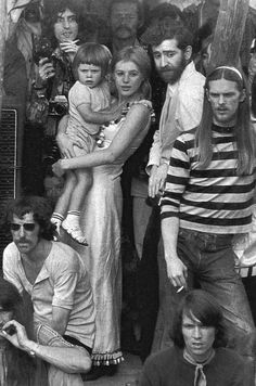 Marianne Faithfull (holding her son Nicholas) at The Rolling Stones concert for Brian Jones at Hyde Park, London ▹ 1969 ▹ Photographer not attributed/Scanned by Faithfull Forever