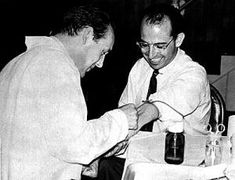 Salk having a blood sample drawn in Pittsburgh, ca. Jonas Salk, Message Bible, Bible 2, I Quit, Shit Happens, Pittsburgh, Blood, I Give Up