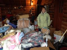 Sorting and boxing donations!