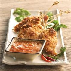 Coconut Chicken with Apricot Ginger Dipping Sauce from Smucker's® #FootballFood