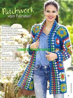 Crochet Granny Square Vest Posts 36 New Ideas Cardigan Au Crochet, Gilet Crochet, Crochet Coat, Crochet Jacket, Crochet Shawl, Crochet Clothes, Crochet Stitches, Crochet Patterns, Beau Crochet