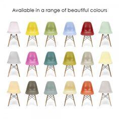 Charles Eames Dunkel Grau DSW Style Stuhl aus Kunststoff - Charles Eames von Cult Furniture UK