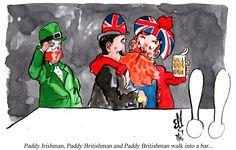 Paddy Irishman, Paddy Britishman and Paddy Britishman walk into a bar...