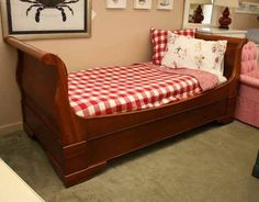 """Restoration Hardware twin day bed with trundle.  43"""" wide x 42"""" high    $899.99"""