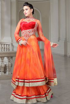 #Readymade #Deep #Orange #Net #Mermaid #Lehenga #nikvik  #usa  #australia  #bridal #wedding #canada #wedding #womenfashion #fashion #sylish