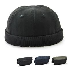 Men Women Plus Size Retro Brimless Hat Adjustable Hats For Big Head Rolled  Cuff Sailor Cap is hot sale on Newchic. f98fb4a2ecbd