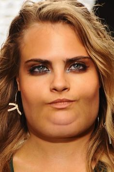 Cara Delevingne and Kate Moss. | What Celebrities Would Look Like If They Were Fat