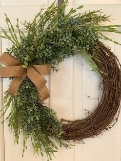 Twigs Decor, Greenery Decor, Greenery Wreath, Floral Wreaths, Spring Wreaths For Front Door Diy, Grapevine Wreath, Boxwood Wreath, Porch Decorating, Holiday Decorating