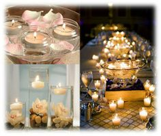 Candle Wedding Table Centerpiece